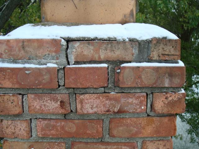 deteriorated brick mortar